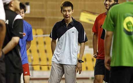 Top man: Lee Chong Wei has appealed for crowd calm