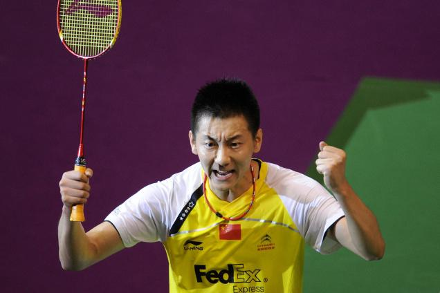 ROCK SOLID: China's Jin Chen played a consistent game to beat Taufik Hidayat in the final.