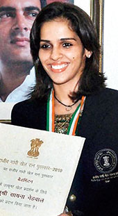 Saina Nehwal, in New Delhi, on Monday