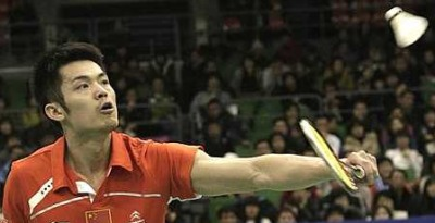 Master shuttler: Lin Dan in action during the South Korea Open final on Sunday. The Chinese ace holds the psychological advantage over Chong Wei, especially in high-stake tournaments.