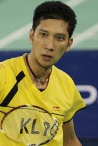 Hafiz: Defeated Indonesia's Tommy Sugiarto in the third round of the Macau Open yesterday.