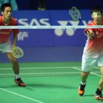 No pushovers: Japan's Hirokatsu Hashimoto (right) and Noriyasu Hirata are among the world's top 15 men's doubles pairs.