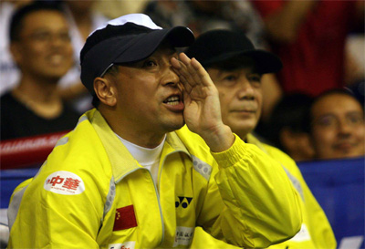Loud and clear: Malaysia need a visionary man, like Li Yongbo (left) of China, to take charge and chart Malaysia's fortunes in world badminton