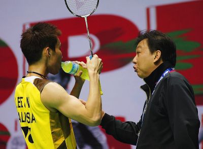 Working hard: Coach Tey Seu Bock is optimistic that Lee Chong Wei will live up to expectations during the All-England Championships in Birmingham from March 5-10.