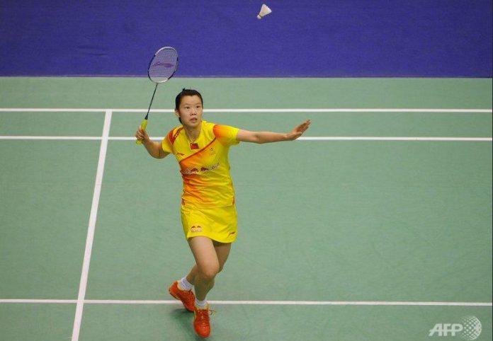 Li XueRui of China crashes out of All England