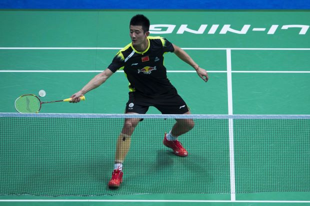 Chen Long fell 22-24, 16-21 to local qualifier Kazuteru Kozai.