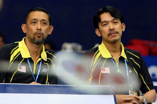Misbun (left) and Rashid Sidek in a file photo taken two years ago. In the past three years, both the Sidek brothers have left the BAM.
