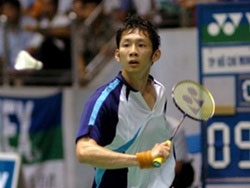 Vietnamese badminton star Nguyen Tien Minh.