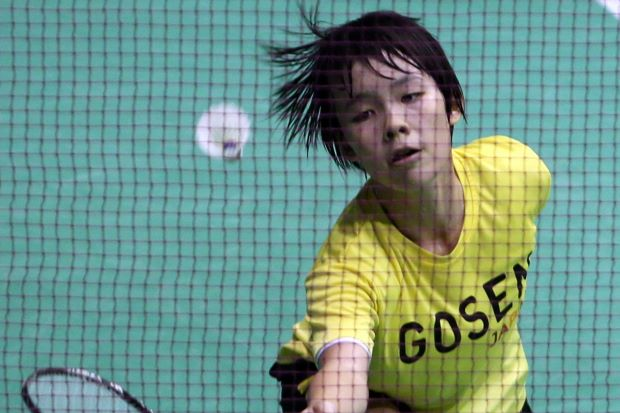 A file photo of junior shuttler Goh Jin Wei. The Malaysian darling made her much-awaited debut at the World Junior Badminton Championships in Bangkok, helping the team to beat the Philippines 5-0.