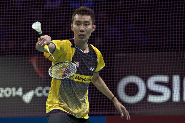 Lee Chong Wei in a file photo from the Denmark Open last week. He had no problem defeating India's P. Kashyap 22-20, 21-12 in the French Open first round.