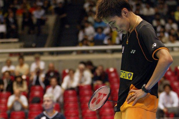 A thing of the past? World No.1 Lee Chong Wei seen here disputing a line call in a tournament in 2010 in this picture. BWF will finally implement the instant review system allowing players to challenge line calls, starting at the World Super Series Finals in December.