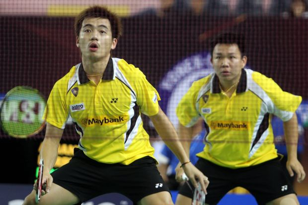 Hoon Thien How-Tan Wee Kiong in a file photo. The pair may still qualify for the Super Series Final depending on how well they do in the China Open.