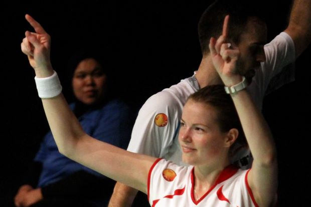 Denmark's Cristinna Pedersen is the queen of the court with two titles (women's and mixed doubles) at the recently concluded BWF Super Series Finals in Kuala Lumpur.