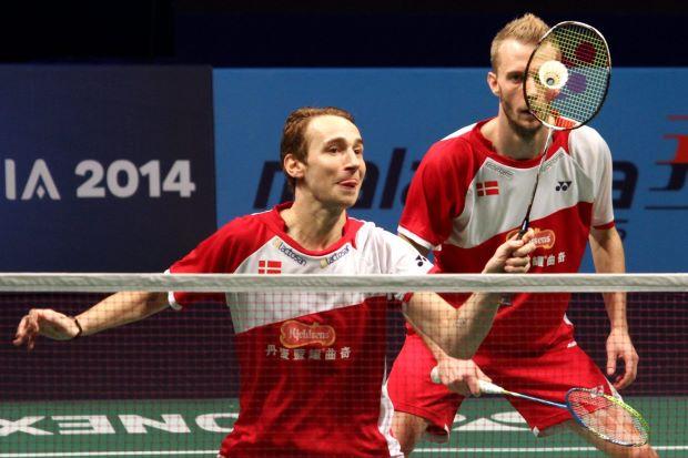 Danish pair Mathias Boe-Carsten Mogensen defeated South Koreans Ko Sung-hyun-Lee Yong-dae to win their Group B tie 21-16, 21-19.
