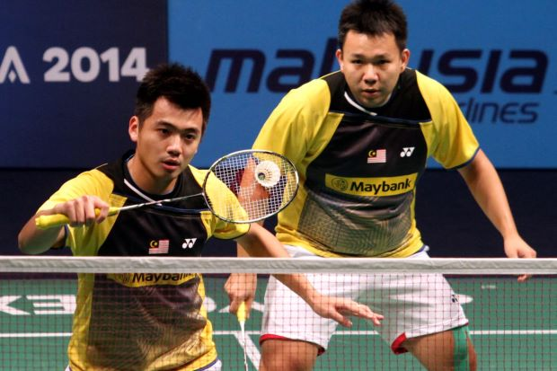 Hoon Thien How-Tan Wee Kiong lost to world champions Mohd Ahsan-Hendra Setiawan in their Group A match of the Super Series Finals.
