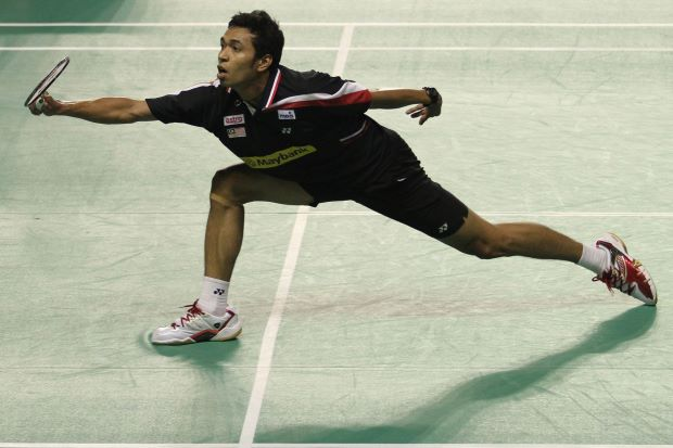 Iskandar Zulkarnain Zainuddin in a file photo. All hope is on him in the men's singles category after Chong Wei Feng crashed out in the opening round.