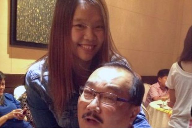 Lee Meng Yean with her dad Lee Boon Kian. She credits her dad for support and encouragement to keep her training hard to excel as a national shuttler.