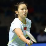 Li Xuerui in a file photo. She easily beat South Korea's Bae Yeon-ju 21-9, 21-7 in just 26 minutes in their BWF Super Series Finals Group B match.