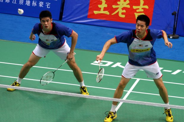 Goh V Shem and Lim Khim Wah in a file photo. The duo are glad to pair up again after playing with back-up players for the last three months.