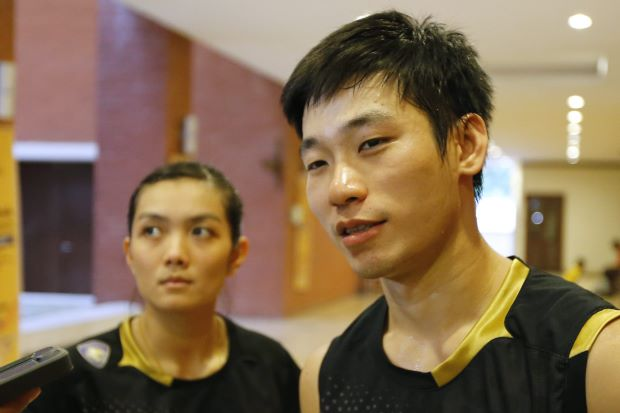 Mixed doubles player, Chan Peng Soon (right), seen here with partner Lai Pei Jing after winning the National Grand Prix Finals title on Monday in Putrajaya, is unhappy with the prize money distribution at the meet. The mixed doubles champions get the least amount at only RM1,600 each.
