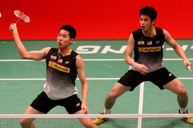 Reunited Goh V Shem (left) and Lim Khim Wah were well above the rest as they easily qualified for the semi-finals of the Maybank National GP Finals at Putrajaya.