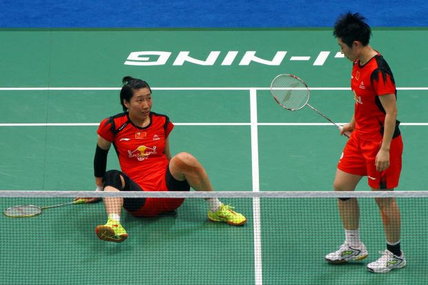 Top seed Wang Xiaoli (left) and Yu Yang of China have withdrawn from the Malaysian Open badminton championships which begins on Wednesday.