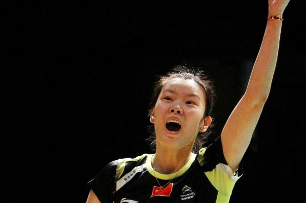 China's Li Xuerui screams in delight after clinching her first Malaysian Open title on Sunday. She defeated compatriot Wang Shixian in the final.