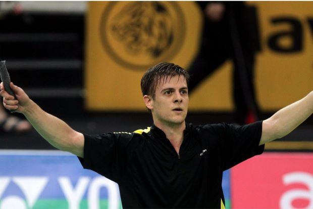 Vittinghus Hans-Kristian of Denmark meets Lee Chong Wei in the opening round of the Malaysian Open on Wednesday.