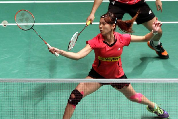 Goh Liu Ying is relieved that she and her partner Chan Peng Soon, as well as her knee, made it through the first round of the Maybank Malaysian Open.