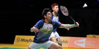 Goh V Shem-Lim Khim Wah on their way to beating England's Chris Langridge-Peter Mills 21-16, 21-14 in the quarter-finals of the Maybank Malaysian Open on Jan 17, 2014.