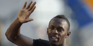 World record holder Usain Bolt in a file photo. Lee Chong Wei is looking forward to meeting Bolt at the Laureus World Sports Awards.