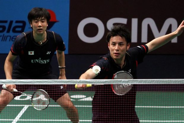 Last year's losing All-England finalists Hiroyuki Endo-Kenichi Hayakawa will try to go one better when they take on Mohd Ahsan-Hendra Setiawan in the men's doubles final on Sunday.