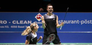 Chris and Gabby Adcock won the Swiss Open Badminton Championships