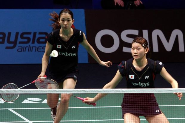 Japan's Misaki Matsutomo-Ayaka Takahashi (pic) lie in wait for Malaysian pair Vivian Hoo-Woon Khe Wei in the second round of the All-England badminton championships starting on Tuesday.