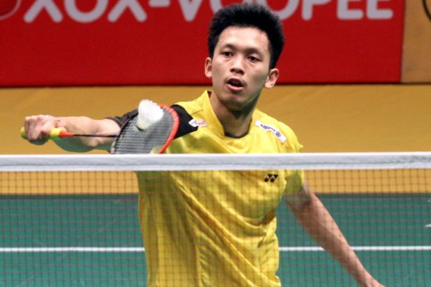 Misbun Ramdan Misbun in a file photo. He beat the experienced Joachim Persson of Denmark 21-16, 18-21, 21-8 in the All-England first qualifying round.
