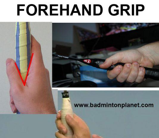 Badminton Forehand Grip