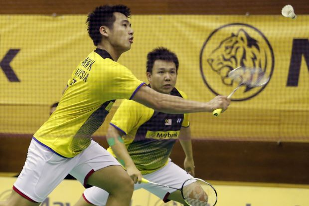 Hoon Thien How and Tan Wee Kiong lost in the first round of the Malaysian Open GP Gold event last week.