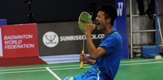 In the other semi-final, second seed Chen Long came through by the skin of his teeth with a titanic 21-15, 21-23, 21-19 win over a pumped-up Jan O Jorgensen of Denmark in a 79-minute encounter.