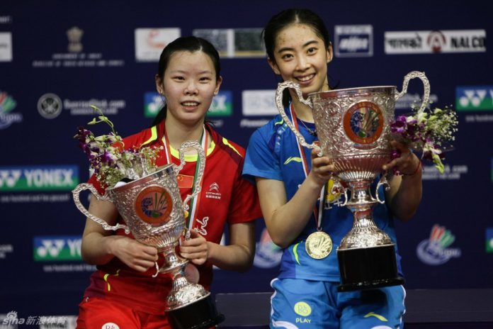 Wang Shixian is on fire since winning All England last month