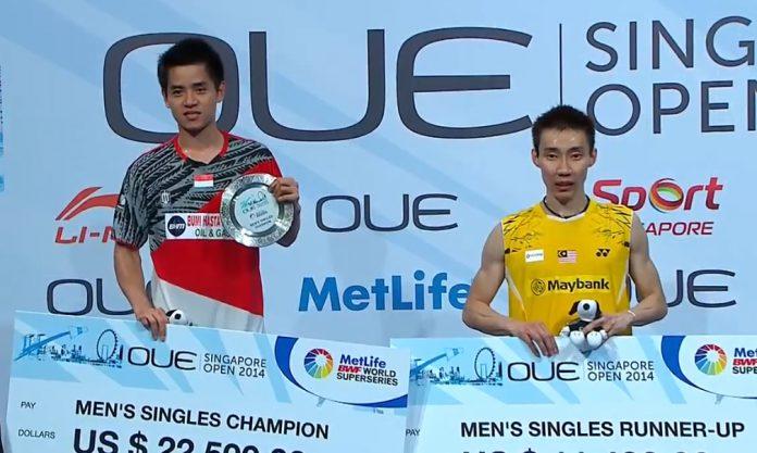 Simon Santoso won Singapore Open title