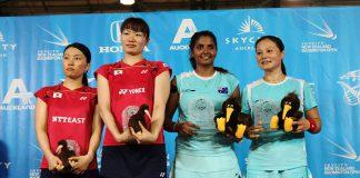 Renuga Veeran/Rosie Tang (AUS) claim doubles crown in Auckland by defeating Mami Naito/Shizuka Matsuo (JPN) 21-13, 10-21, 21-18