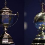 Thomas Cup (left) and Uber Cup