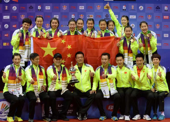 Congratulations to the China Uber Cup Team!