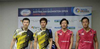 Post match interview: Yoo Yeon Seong-Lee Yong Dae (left) and Hirokatsu Hashimoto-Noriyasu Hirata