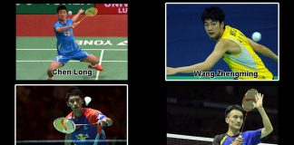 The fantastic four of China - Chen Long, Wang Zhengming, Tian Houwei, Du Pengyu