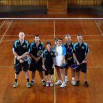 The Norfolk Island Badminton Team hold the Queen's Baton in the badminton court in Norfolk Island on Sunday 22 December 2013.