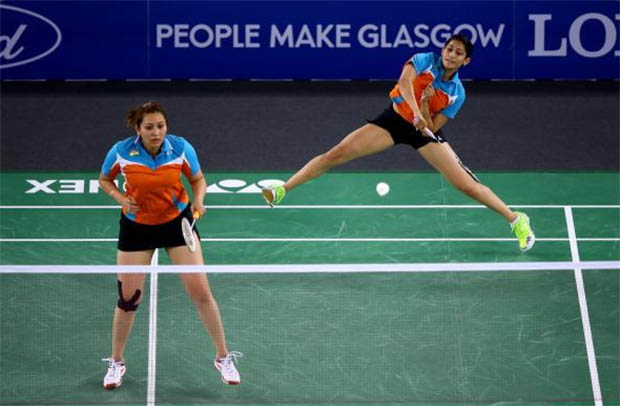 Women's doubles defending champions Jwala Gutta and Ashwini Ponnappa appear to be in good spirit