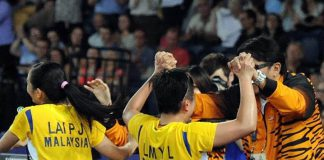 Lai Pei Jing-Lim Yin Loo ecstatic after 2-1 win over No 1 seed Shinta Mulia Sari and Yao Lei of Singapore