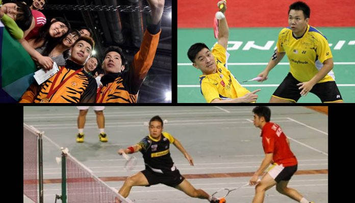 Malaysia's new big three men's doubles: Wee Kiong - V Shem (top left), Boon Heong-Thien How (top right), Yao Han- Khim Wah (bottom)