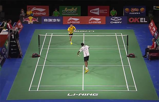 Chong Wei Feng (yellow) vs Rajiv Ouseph
